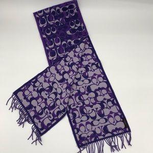 COACH // Wool + Cashmere Signature C Fringe Scarf